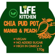 Chia mango and Peach Life Kitchen